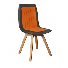 Henry Dining Chair with Wooden Legs
