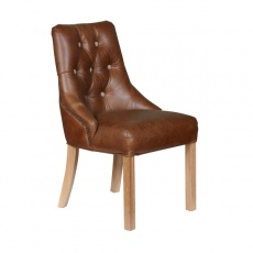 Stanton Chair in Brown Leather