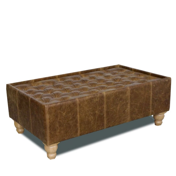 vintage Buttoned Top Coffee Table - Rectangle