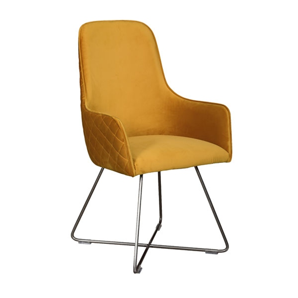 Carlton Utah Chair in Mustard Plush