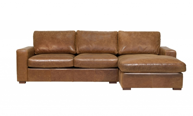 vintage Maximus (Standard) 3 Seater Corner Sofa with Right Hand Facing Chaise