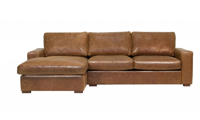 vintage Maximus (Standard) 4 Seater Corner Sofa with Left Hand Facing Chaise