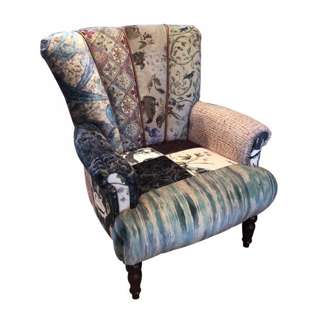 vintage Lily Standard Chair in Patchwork