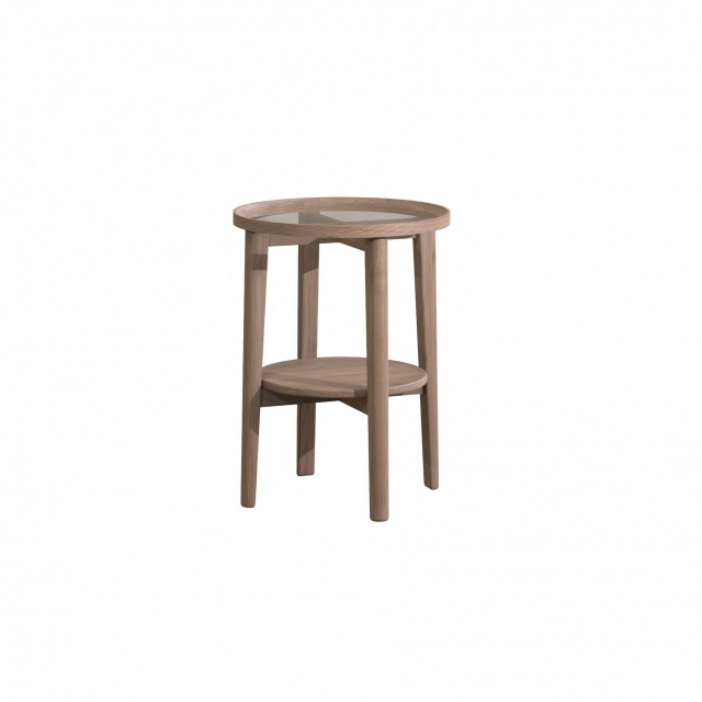 Carlton Holcot Side Table - Grey Finish