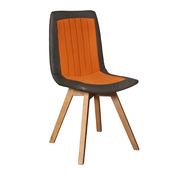 Carlton Henry Dining Chair with Wooden Legs