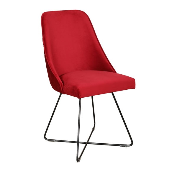 Carlton Casper Chair with Metal Legs