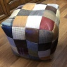 vintage Bean Bag Leather Mix & Wool Mix