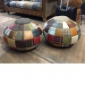 vintage Beach Ball Bean Bag Leather Mix & Wool Mix