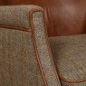 vintage Elston Chair - Hunting Lodge Harris Tweed - Fast Track Delivery