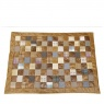 vintage Patchwork Rug Patchwork Leather & Wool Mix 120 x 170