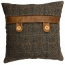vintage Belt and Button Cushion